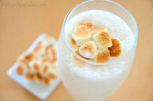 toasted marshmallow and malt milkshake