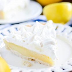 Lemon, buttery crust, dreamy marshmallow meringue topping-- this is the lemon pie of your dreams!