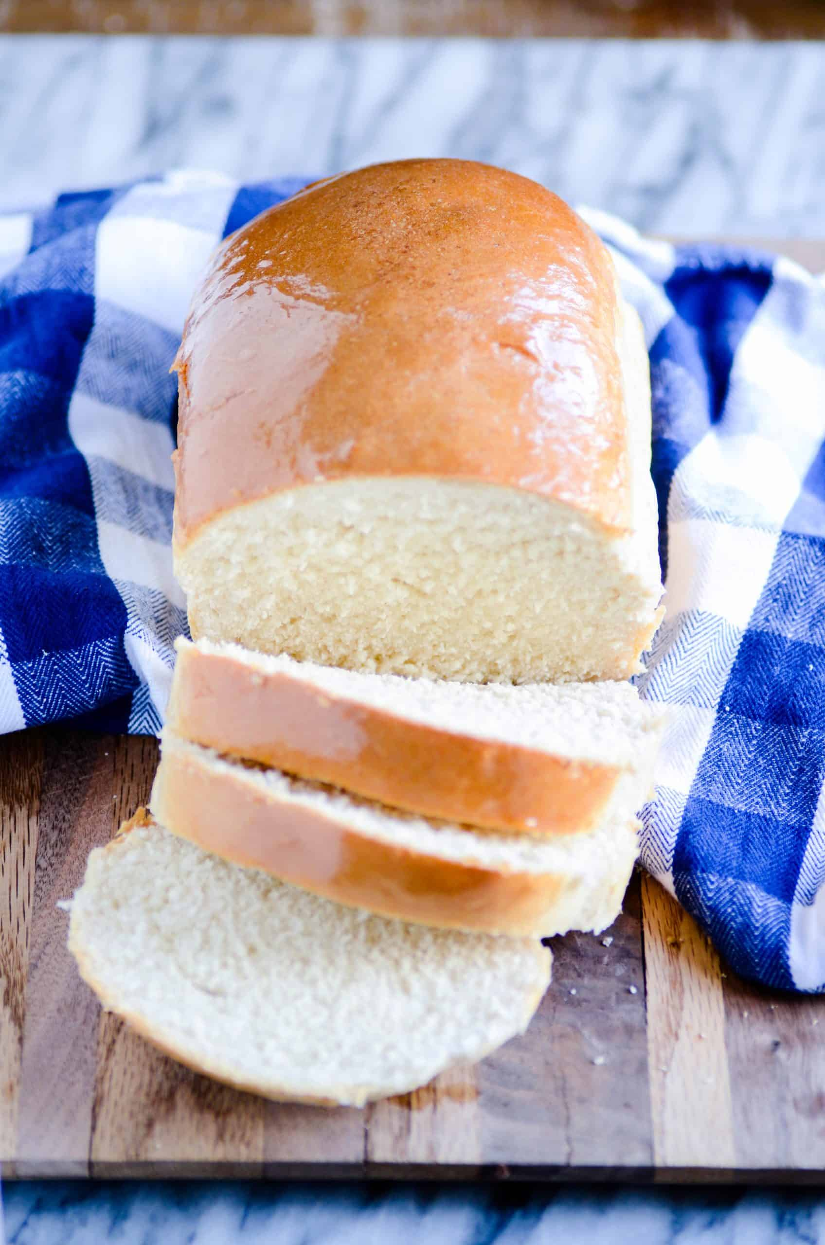 This simple recipe for homemade sandwich bread is a family favorite! Use it for sandwiches, french toast, or smother it with butter and eat it fresh and warm!