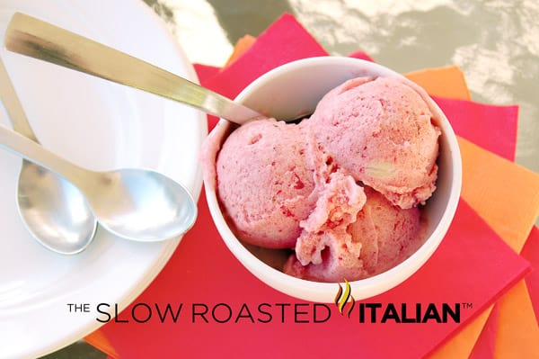 Five Minute 3-Ingredient Strawberry Banana Ice Cream
