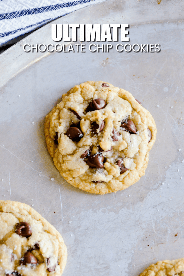 This recipe for Chocolate Chip Cookies is my go-to recipe these days. They're deliciously chewy and a little bit on the thin side with golden, crispy edges and a gooey center. My perfect cookie!