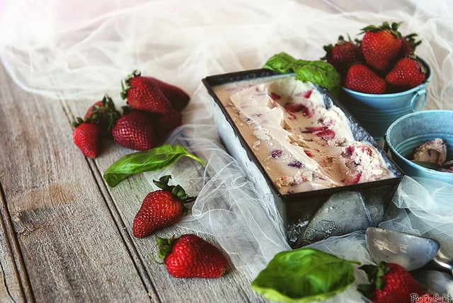Strawberry Basil Gelato