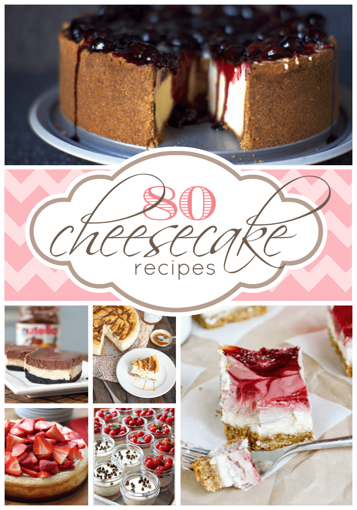 80 Cheesecake Recipes compiled at www.somethingswanky.com