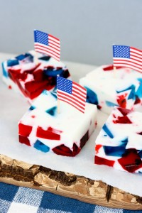 krissyscreations.Patriotic Stained Glass Jello