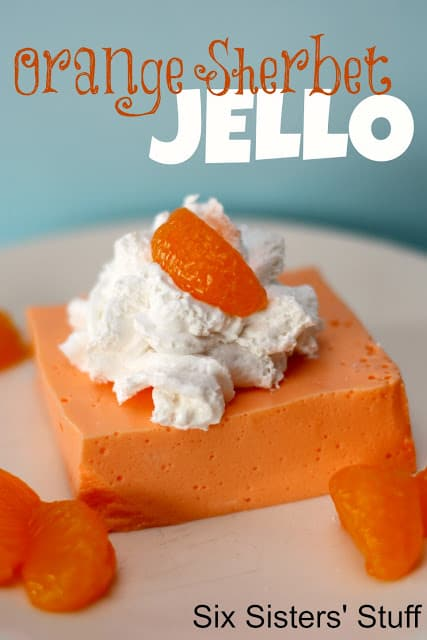 orange sherbet jello
