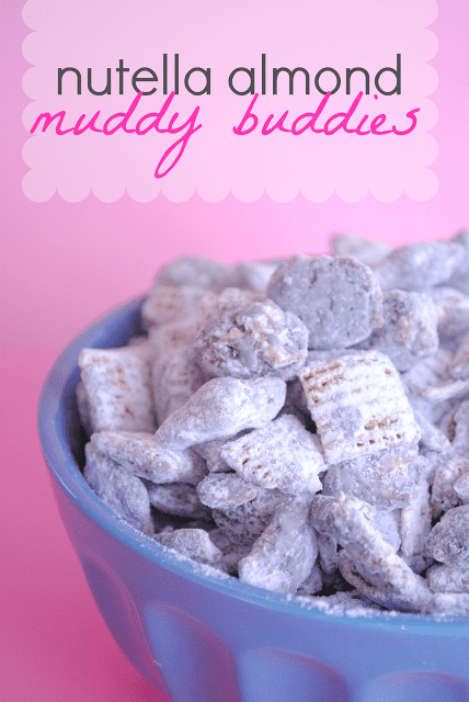 Nutella Almond Muddy Buddies