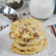 Double Chocolate Chip Pudding Cookies | www.somethingswanky.com