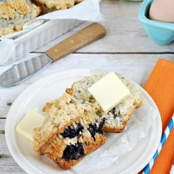 Blueberry Crumble Muffins   www.somethingswanky.com
