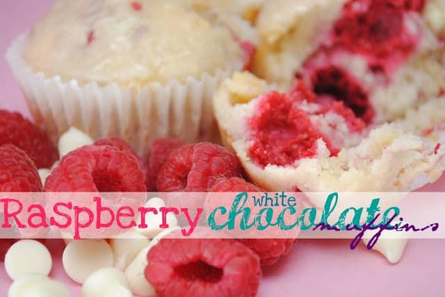 Raspberry White Chocolate Muffins   www.somethingswanky.com
