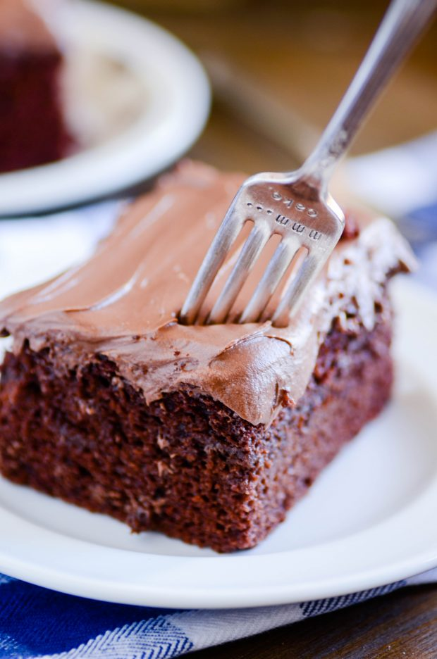 My new favorite chocolate cake! Super tender and moist and ultra chocolate-y.