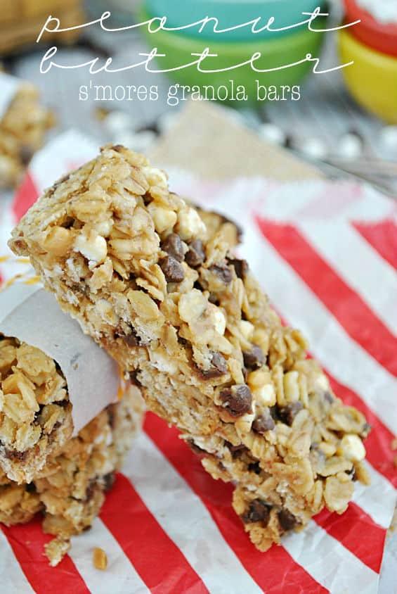Peanut Butter S'mores Granola Bars   www.somethingswanky.com