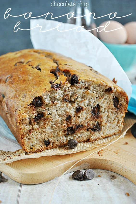 Chocolate Chip Banana Bread | www.somethingswanky.com