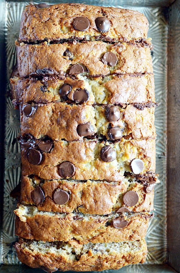 Moms famous chocolate chip banana bread recipe chocolate chip banana bread forumfinder Gallery
