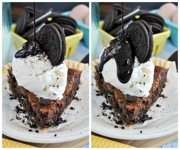 Chocolate Chess Oreo Pie | www.somethingswanky.com