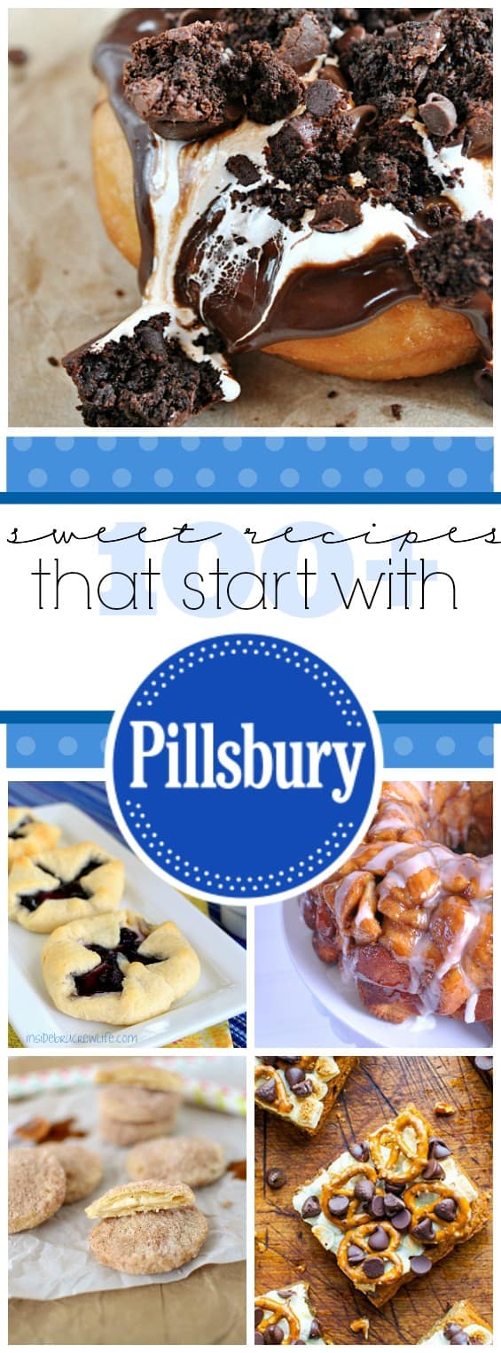 100+ Sweet Recipes That Start with #Pillsbury | www.somethingswanky.com
