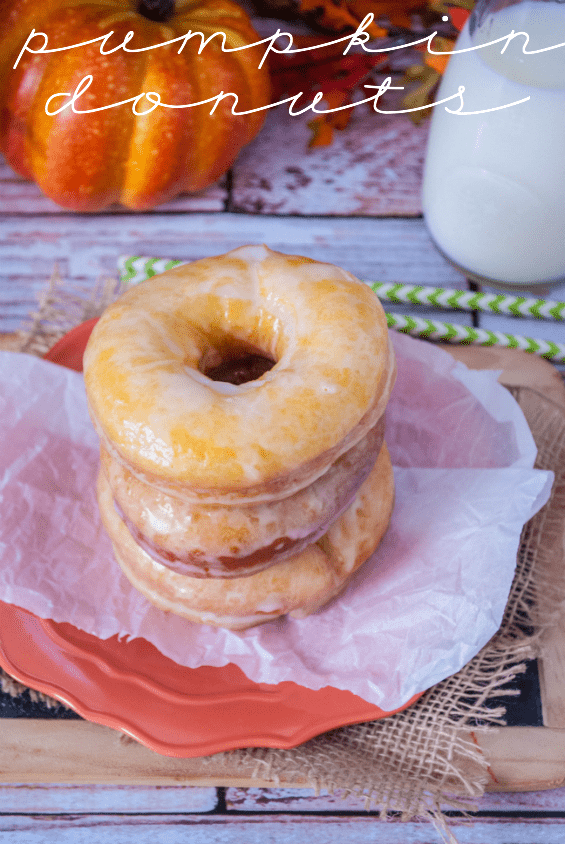 Pumpkin Donuts (the yeasty kind!) at www.somethingswanky.com