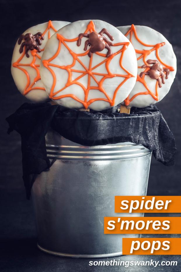 Spooky Spider Web S'mores Pops