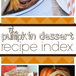 The Pumpkin Dessert Recipe Index with over 100 delicious Fall recipes!