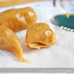 EASY Peanut Butter Soft Caramels | www.somethingswanky.com