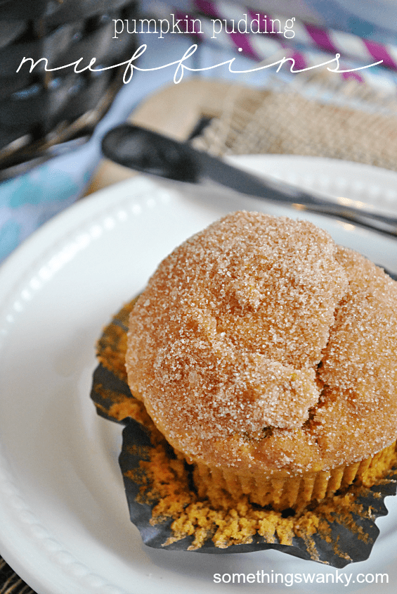 Pumpkin Pudding Muffins | www.somethingswanky.com