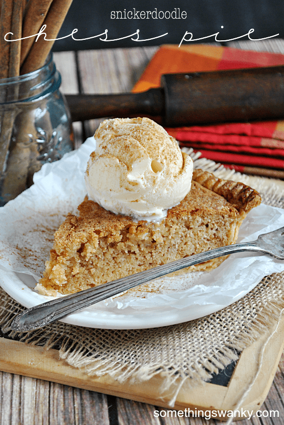 Snickerdoodle Chess Pie | www.somethingswanky.com