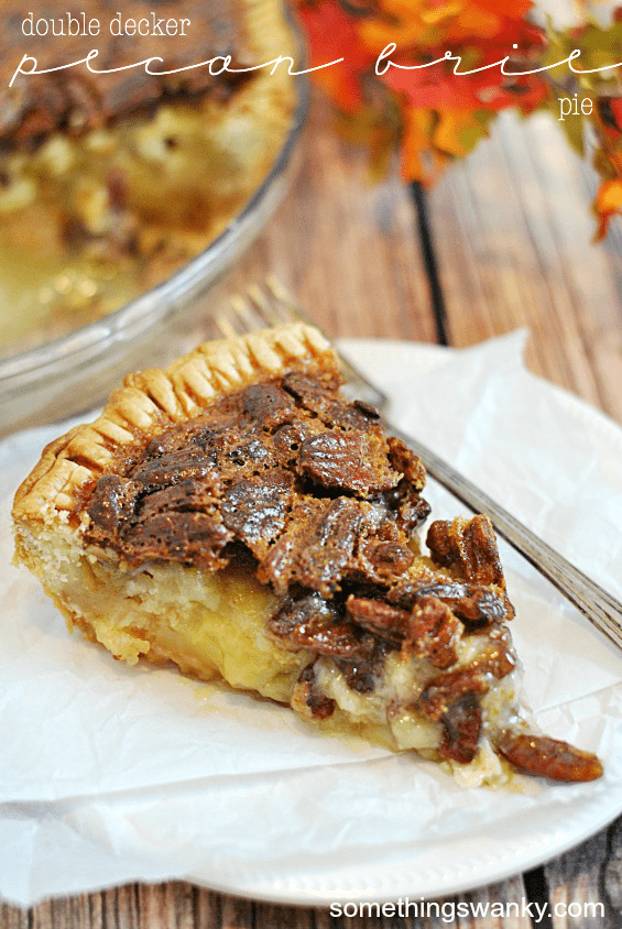 Double Decker Pecan Brie Pie | www.somethingswanky.com