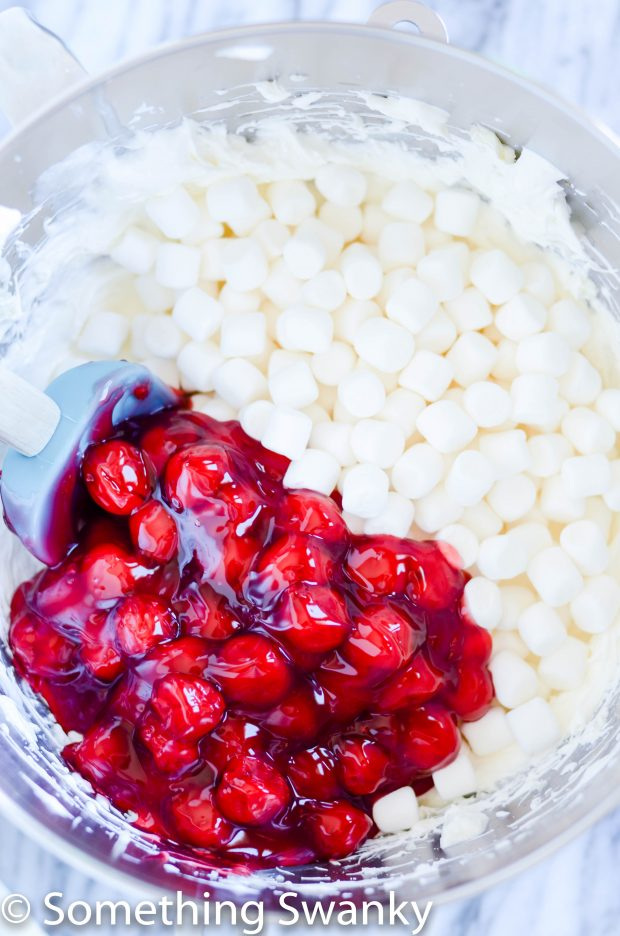 Cherry Cheesecake fluff is and easy and delicious side dish that is perfect for summer BBQ and potlucks. So light and fluffy, you won't be able to resist!