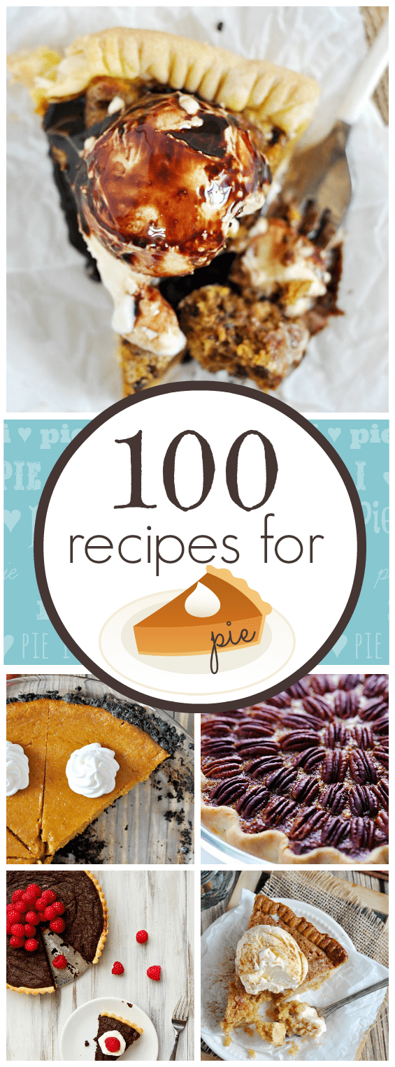 100 recipes for PIE | www.somethingswanky.com
