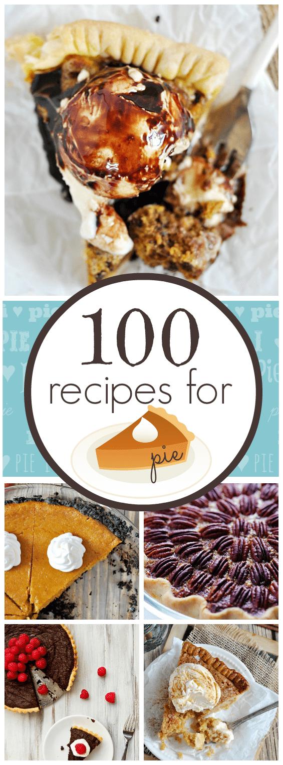 100 recipes for PIE | www.somethingswanky.com