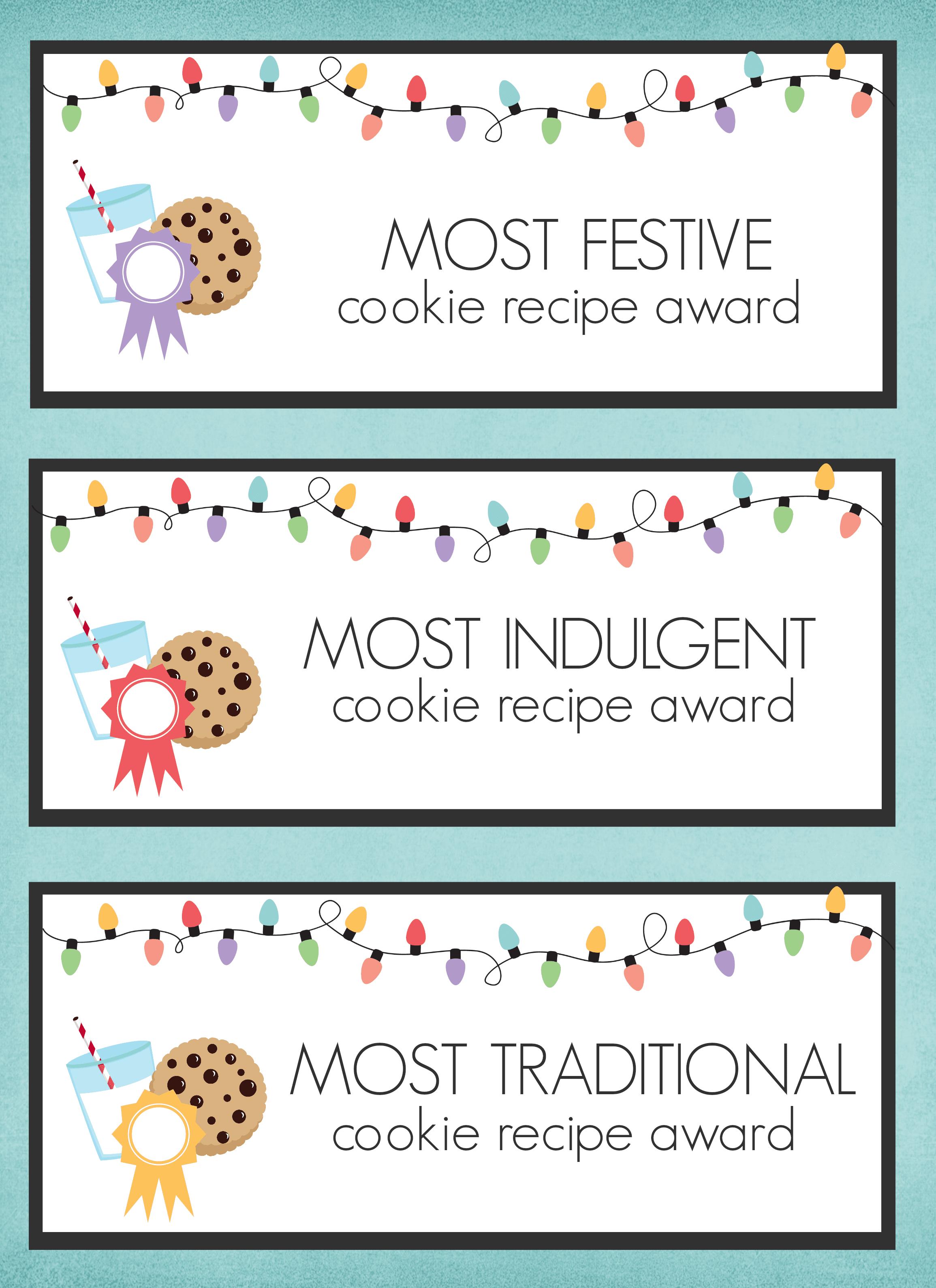 Cookie Exchange Printables - Worksheet & Coloring Pages