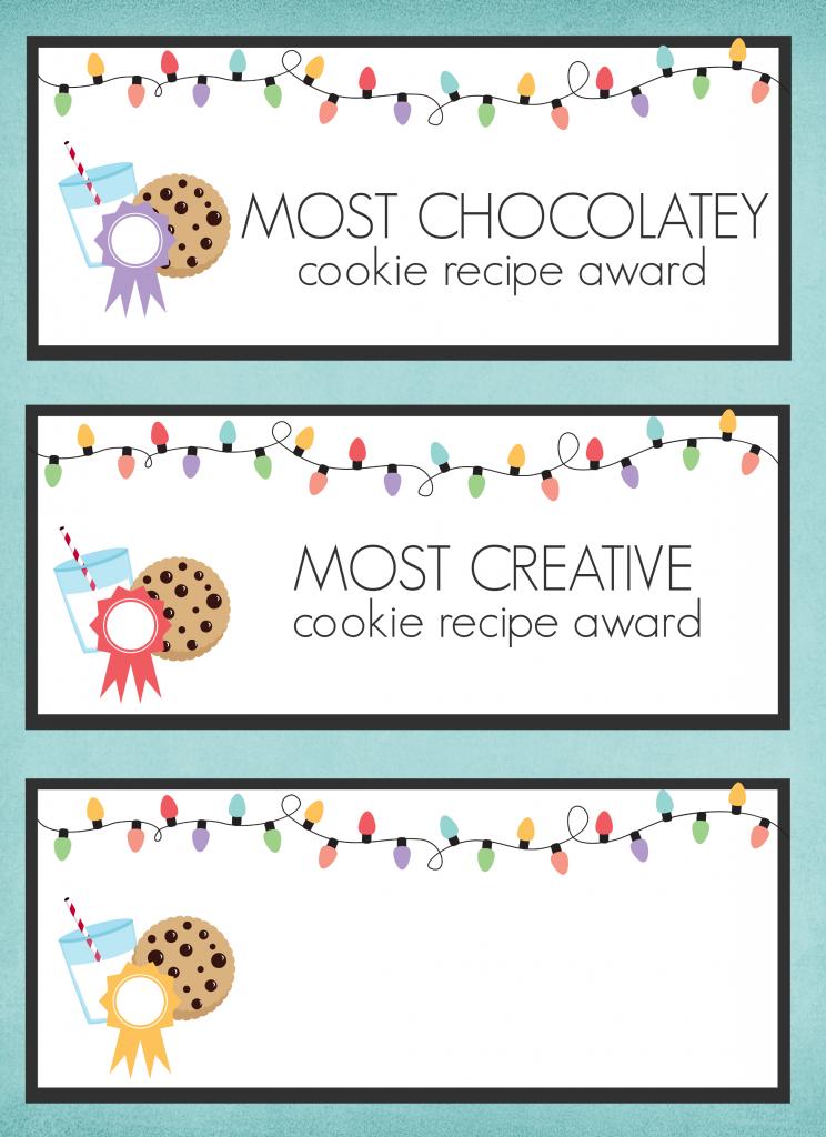 Peppermint Bark Dark Chocolate Pudding Cookies & Cookie Exchange Printables | www.somethingswanky.com