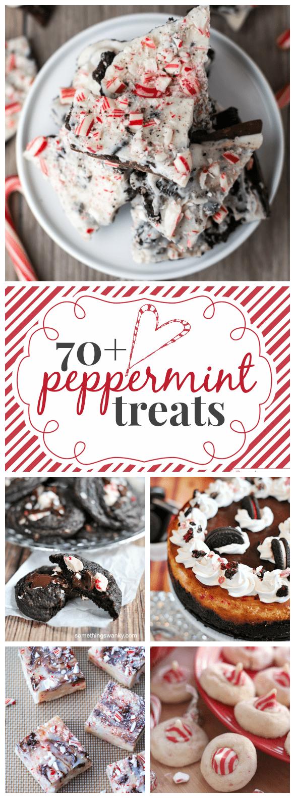 70+ Peppermint Treats | www.somethingswanky.com