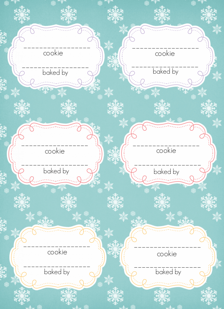 Cookie Exchange Cookie Labels