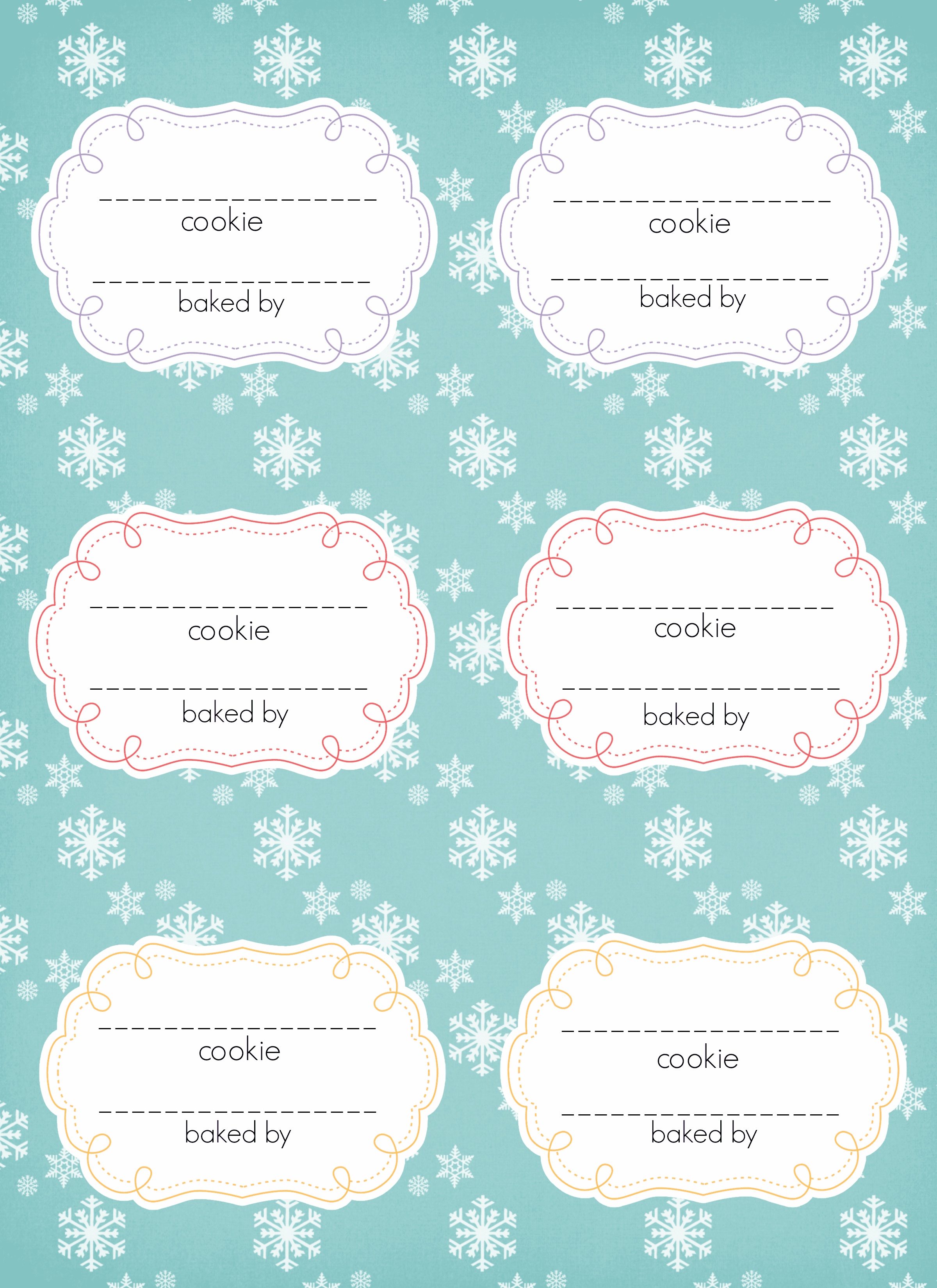 Thebrownfaminaz Cookie Templates Free