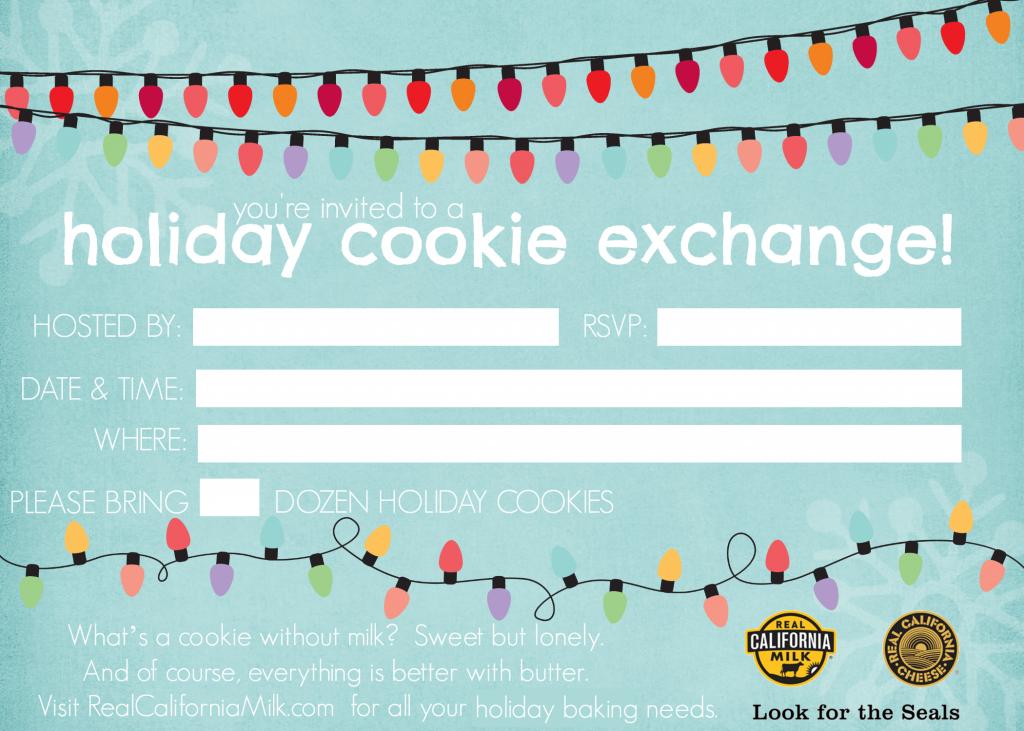 Cookie Exchange Invitation Printable