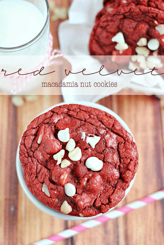 Red Velvet Macadamia Nut Cookies | www.somethingswanky.com