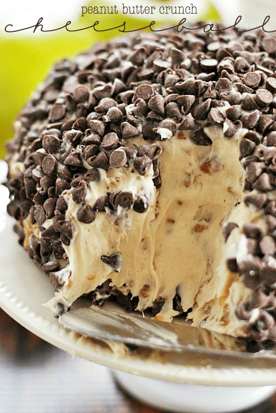 Peanut Butter Crunch Cheeseball   www.somethingswanky.com