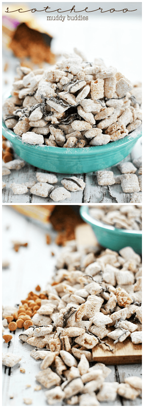 Scotcheroo Muddy Buddies | www.somethingswanky.com