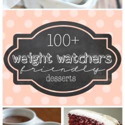 100+ Weight Watchers Friendly Desserts | www.somethingswanky.com
