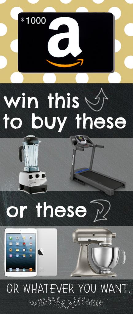 Win a $1000 Amazon Gift Card!