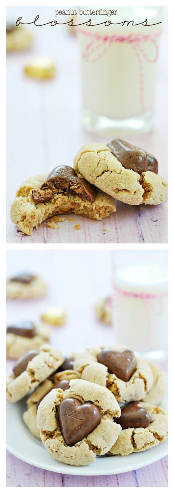 Peanut Butterfinger Blossoms | www.somethingswanky.com