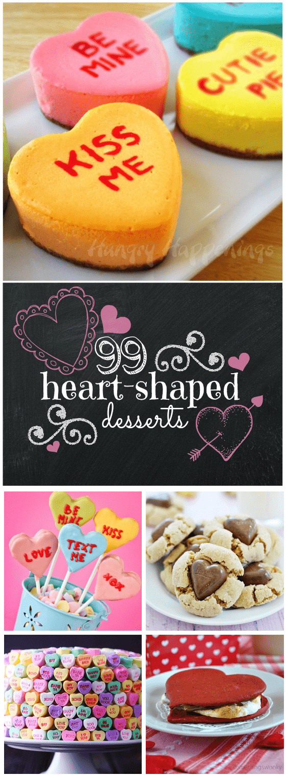 99 Heart Shaped Treats | www.somethingswanky.com