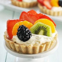 Rainbow Fruit Tartlets | www.somethingswanky.com
