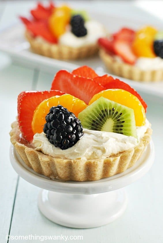 Rainbow fruit tartlets something swanky for What to make with apples for dessert