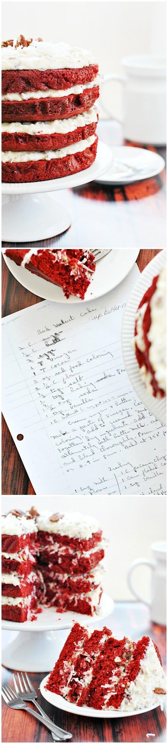 Grandma's Red Velvet Cake | www.somethingswanky.com