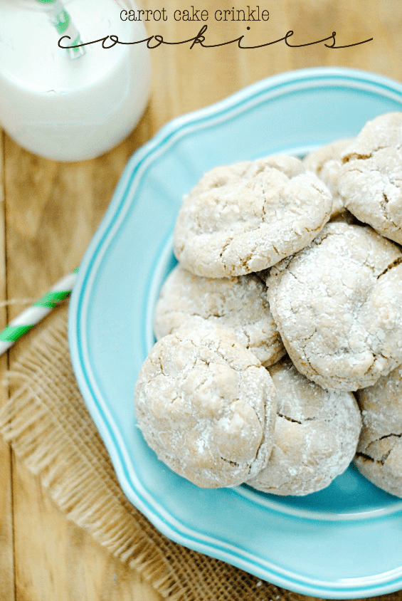 Carrot Cake Crinkle Cookies | www.somethingswanky.com