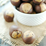 Cookie Dough Buckeyes | www.somethingswanky.com