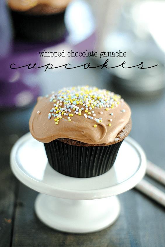 Whipped Chocolate Ganache Cupcakes | www.somethingswanky.com