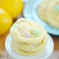 Lemon White Chocolate M&M Cookies | www.somethingswanky.com