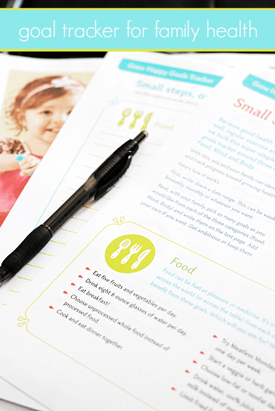 Set family goals for health and track them using #growhappy   www.somethingswanky.com